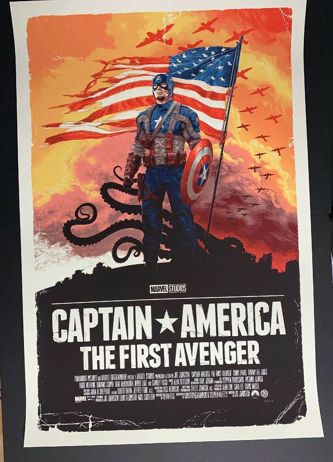 Primary image for Captain America: The First Avenger 24x36 by Gabz Grey Matter Art Print 267/410