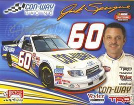 2006 JACK SPRAGUE #60 CON-WAY CTS NASCAR POSTCARD SIGNED - $10.75