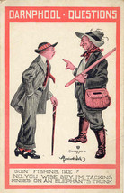 A Darnphool Question artist Bernard Wall Vintage Post Card - $6.00