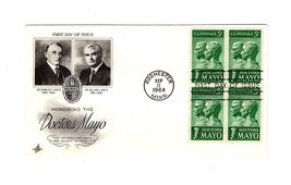 FDC ENVELOPE-HONORING THE DOCTORS MAYO  BL4-1964 ART CRAFT CACHET BK12 - $3.40