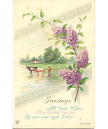 Greetings By A Loyal Friend James Pitts 1915 Post Card - $1.00