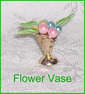 Miniature Metal Flower Vase  Petite Princess Accessory Dollh