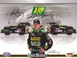 "2007 DAVE BLANEY #32 ""ABF RACING  U-PACK MOVING"" NASCAR POSTCARD SIGNED - $11.25"