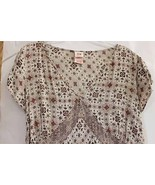 Tan / Brown V-neck Women's Short Sleeve 18W / 20W Shirt - $12.95