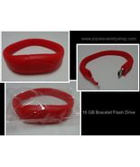 16GB USB 2.0 Memory Stick Flash Pen Drive Red Wristband Bracelet - $10.99