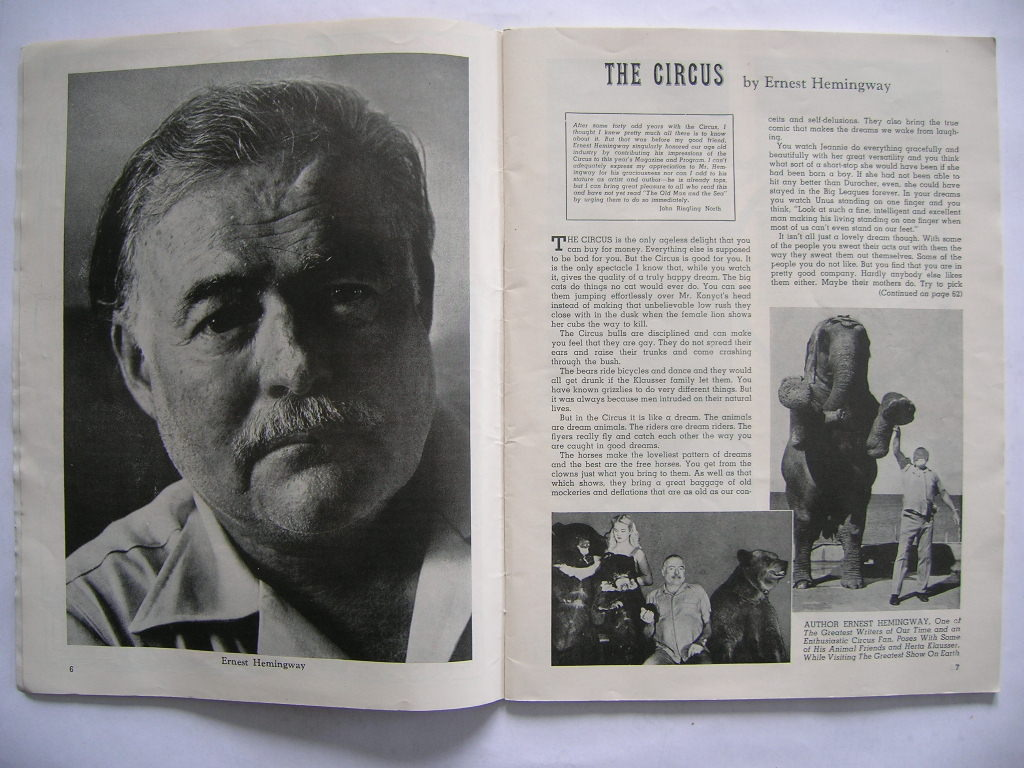 Primary image for Ernest Hemingway ['The Circus'] found within Ringling Bros. and Barnum & Bailey