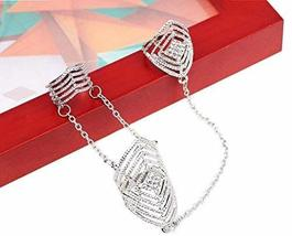 Fashion Personality Bracelet Jewelry Finger Rings And Chains, Silver Stripes