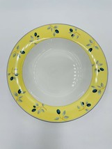 "Royal Doulton Blueberry Rimmed Soup Bowls 8.5""  Set of 6 EUC - $39.59"