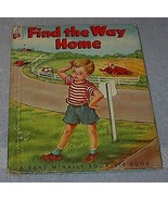 Old Children's Rand McNally Elf Book, Find the Way Home - $9.95