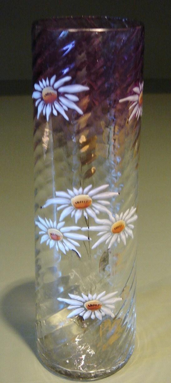 Vase  enamel flowers 1 1