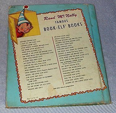 Old Children's Rand McNally Elf Book, Find the Way Home