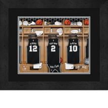 Personalized San Antonio Spurs 12 x 16 Locker Room Framed Print - $63.95