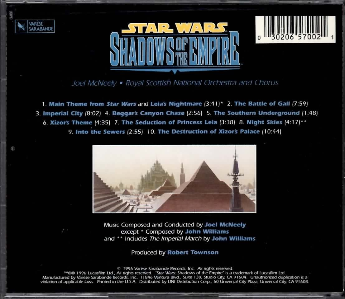 STAR WARS SHADOWS OF THE EMPIRE JOEL McNEELY CD  RARE