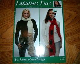 Fabulous Furs Knit Jeanette Crews Designs No 16120 - $4.50