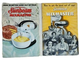 For Sunbeam Mixmaster Mixer 2 Instruction & Recipe Books Manual 1941 and... - $19.10