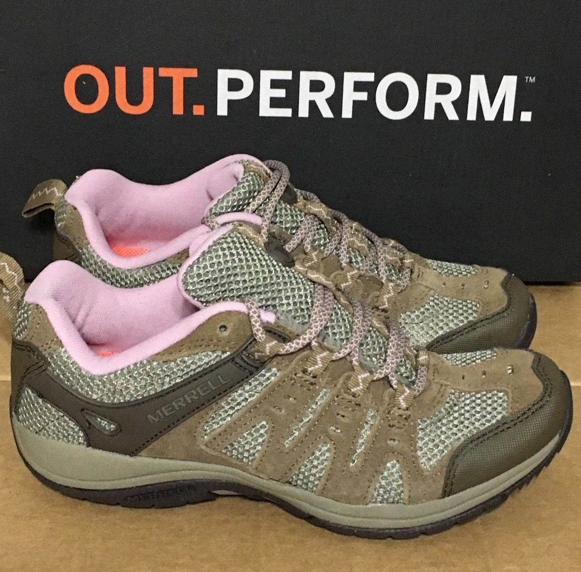 MERRELL ZEOLITE ACCENT WOMEN'S HIKING SHOE, SIZE 6, OTTER/LILAC, J321251C