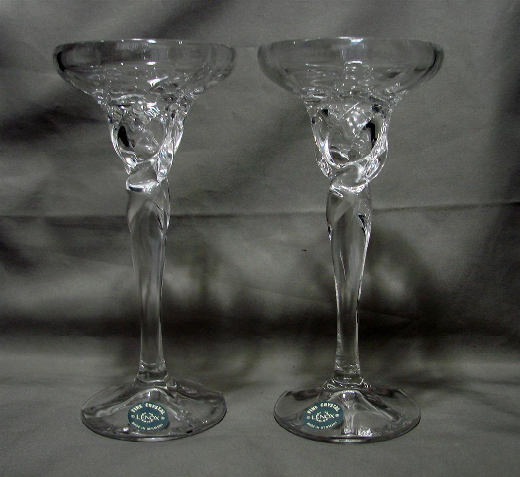 Primary image for Lenox Germany Crystal Glass Taper Candle Holder w/ Wax Catcher