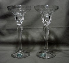 Lenox Germany Crystal Glass Taper Candle Holder w/ Wax Catcher - $29.99