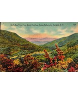 LINEN POSTCARD- VIEW OF HAINES FALLS FROM SANTA CRUZ INN,CATSKILLS, NY BK16 - $2.94