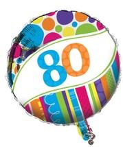 """Bright & Bold Polka Dot Stripes Birthday Party Decoration 18"""" Mylar Ball... - $8.17"""
