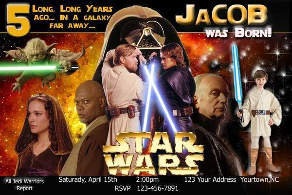 Star Wars Photo Birthday Party Invitation Digital FIle ~You Print~