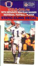 kelly stouffer seattle seahawks football sticker rare autograph facsimile - $6.98