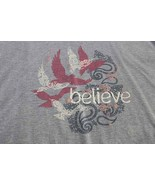 Believe Light Blue Short Sleeve Women's T-Shirt XL - $6.50