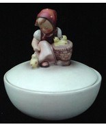 Old Hummel Chick Girl Covered Candy Dish Box TMK2 - $75.00
