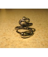 RING MEN WOMEN UNISEX STAINLESS STEEL SILVER SNAKE SIZE 7.5  - $8.99