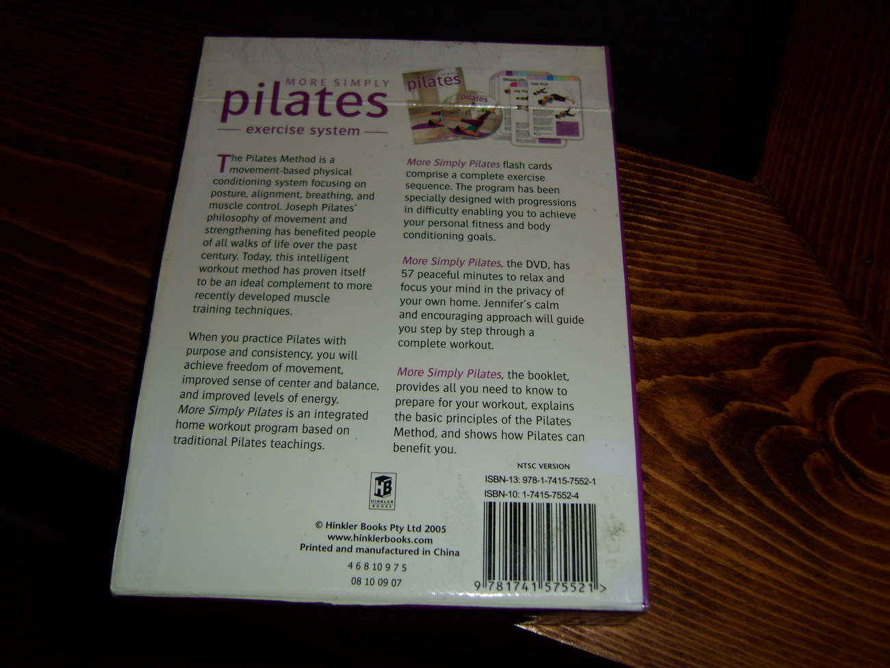 More Simply Pilates flash cards book and DVD set Jennifer Pohlman