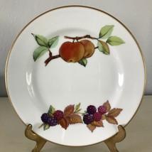 """Evesham Gold Bread Plate Fine Porcelain Royal Worcester Fruit Gold Trim 6-3/4"""" b - $6.42"""