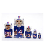 Buffalo Bills nesting doll matryoshka 5 pc