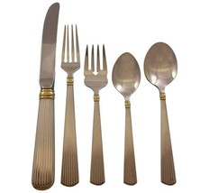 Ashmont Gold by Reed & Barton Sterling Silver Flatware Set Service 56 pcs Dinner - $4,995.00