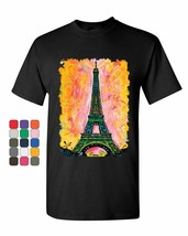 Eiffel Tower T-Shirt Dean Russo Paris France Travel Europe EU Mens Tee S... - $10.98 CAD+