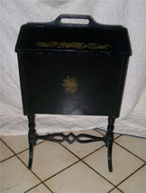 Black Handpainted Sewing Cabinet Stand - $337.28