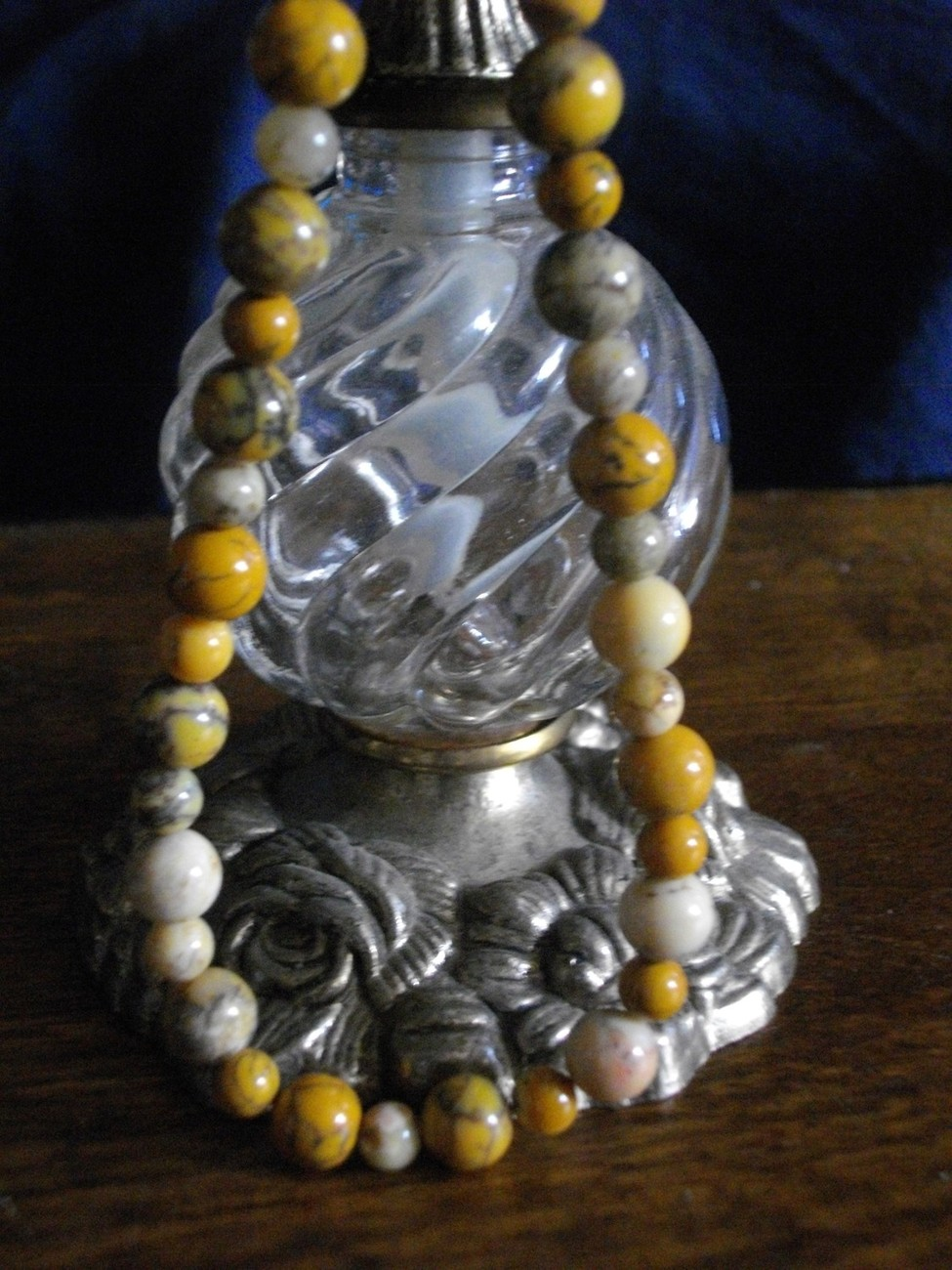 A-98 Yellow Moss Agate Necklace