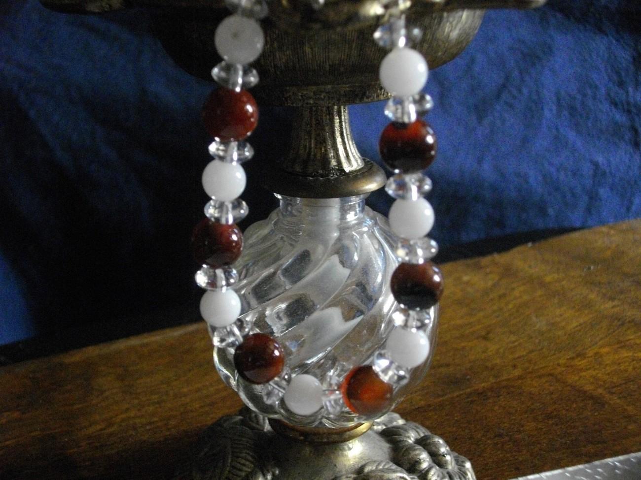 A-60 Red agate, Snow quartz, and Crystal Quartz Bracelet