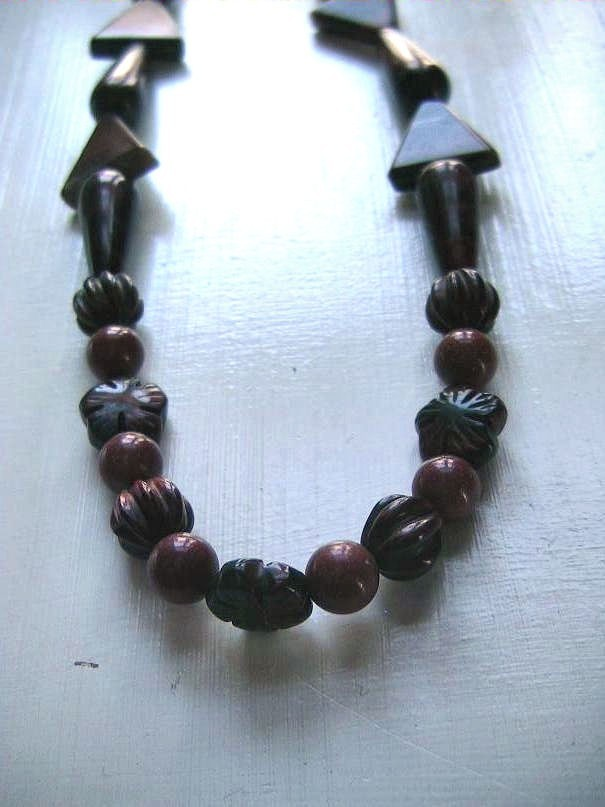 A-14 Red Tigereye Necklace