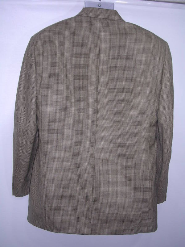 Brooks Brothers Brown Plaid Houndstooth Sport Coat 42 R
