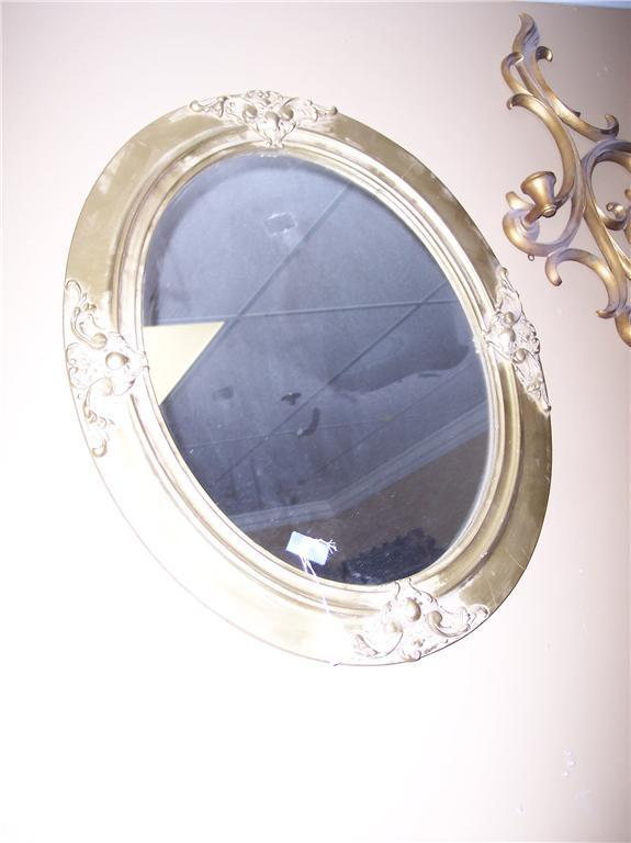 Decorative Oval Gold Painted Mirror/Wall Mirror