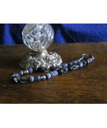 B-9    Black Glass Bead Necklace - $9.00