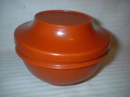 2pc Lot Vintage Tupperware Autumn Rust Bowl & Seal Lid 12oz - $19.99