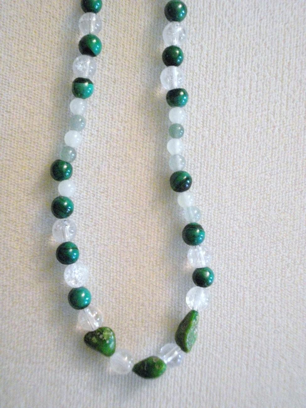 Crystal Quartz, Green Adventurine, New Jade, Green Malachite