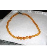 A-35  Peach Adventurine Necklace - $11.00
