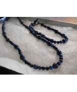 Many Shades of Lapis Lazuli Necklace and Bracelet Set - $22.00