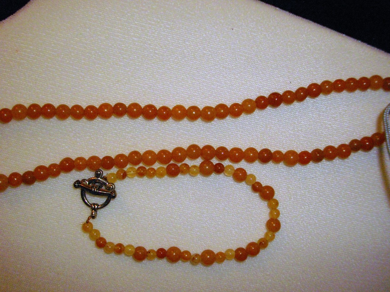 A-64    Peach Adventurine Necklace and Bracelet Set
