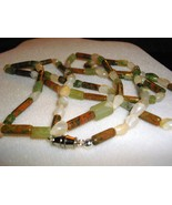 A-78    Unakite, Green Adventurine and Moonstone Necklace - $18.00