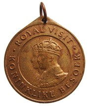 1947 KING GEORGE 6tn and  ELIZABETH  South Africa visit Medal - $9.99