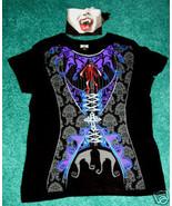 VAMPIRE BODICE CORSET T-SHIRT W/BANDANA WOMENS XL 16-18 - $14.95