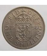 Vintage 55 years old 1956 SCOTTISH Elizabeth II One Shilling Copper Nick... - €5,31 EUR